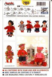 Burda-Sewing-Pattern-7903-Doll-Clothes
