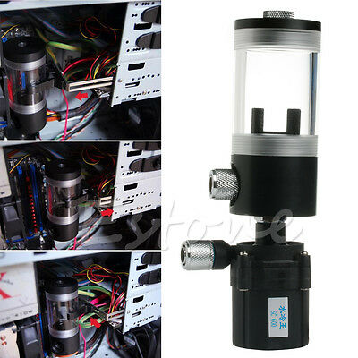 Hot 110mm Cylinder Water tank + SC600 Pump Computer Water Cooling Radiato Set