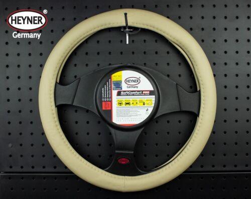 BEIGE car steering wheel cover 37-39cm TOP quality look faux leather SOFT HEYNER