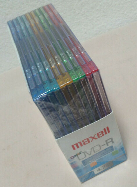 Maxell Color DVD-R 4.7 GB - 120 min Up To/Max 16X - 10 PK In Jeweled Cases