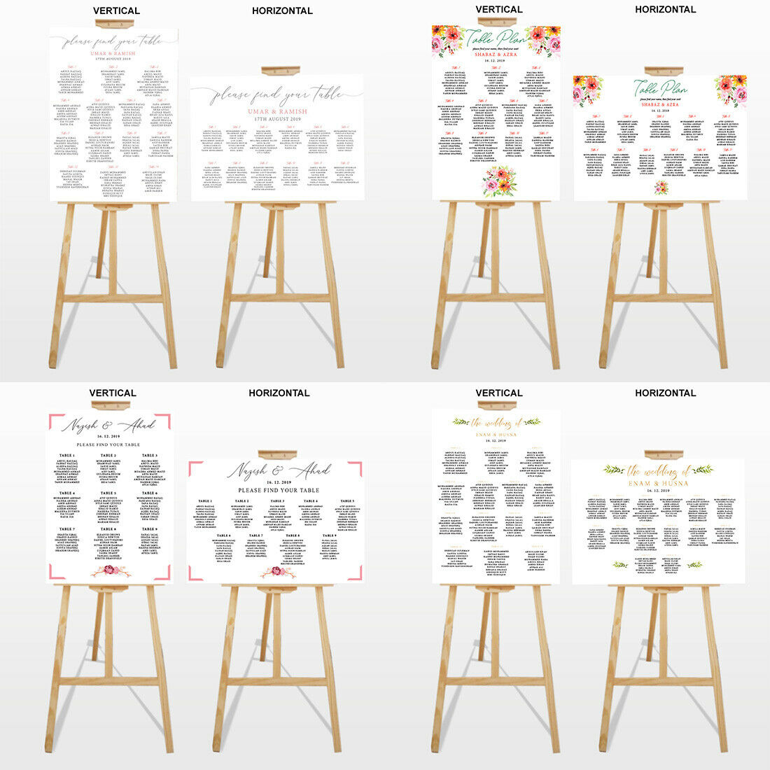 Personalised Names Table Plan Find Your Seat Wedding A1 Form Board Party Decor 5
