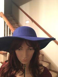 pelle fustella di nappe in cinturino con cavallo Hat Blue Royal pelo a BqYXw