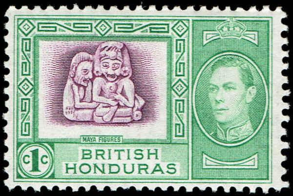 Scott # 115 - 1938 - ' Mayan Figures '