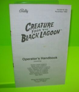 Creature-From-The-Black-Lagoon-Pinball-Machine-Mini-Handbook-Bally-Original-1992