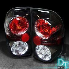 97-04 Dodge Dakota Black Tail Lights Lamps Left+Right Pair Sets Aftermarket Sets