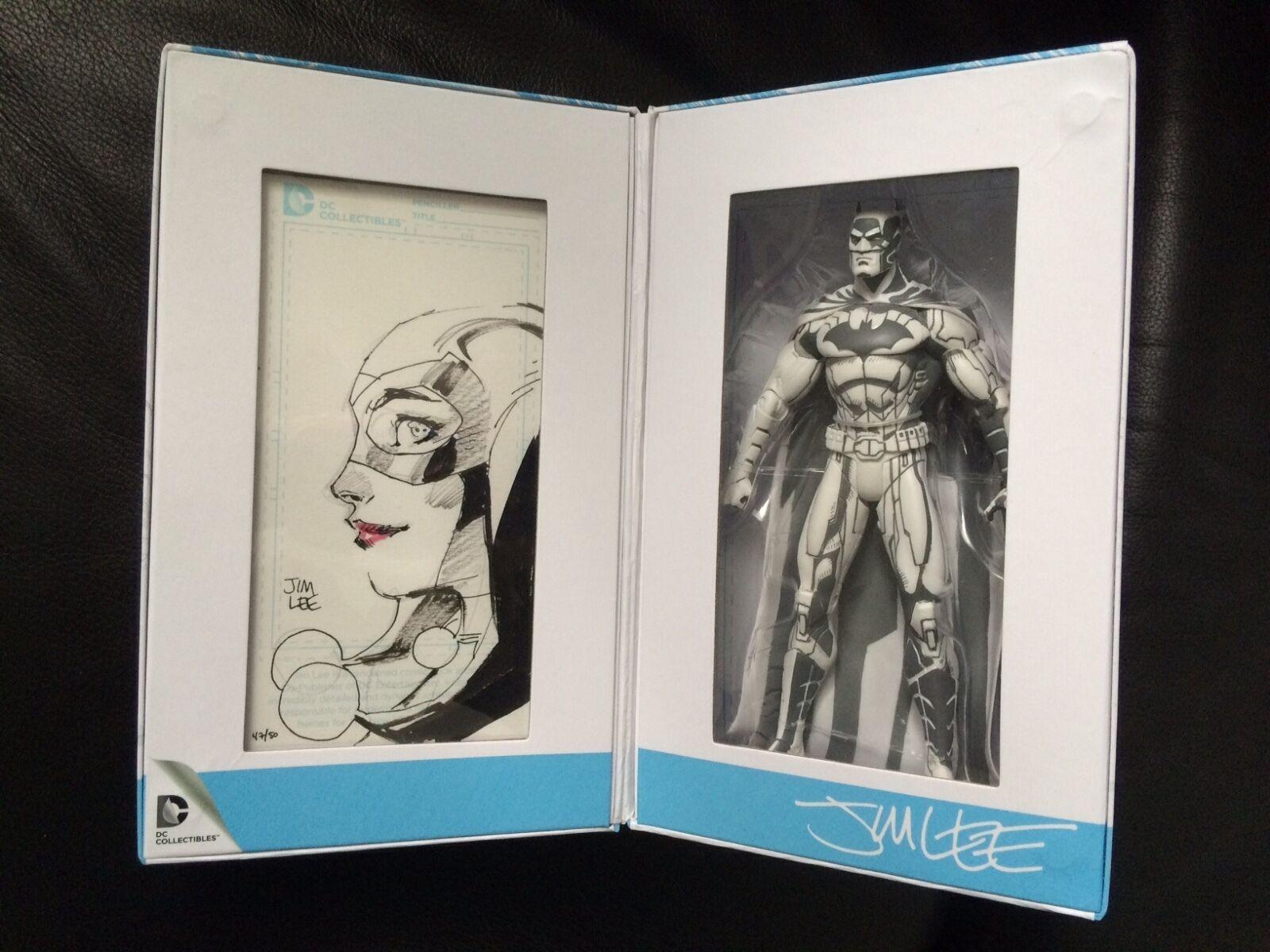 Exclusive SDCC 2015 Jim Lee Batman blueeline Figure ORIGINAL HARLEY QUINN SKETCH