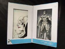 Exclusive SDCC 2015 Jim Lee Batman Blueline Figure ORIGINAL HARLEY QUINN SKETCH
