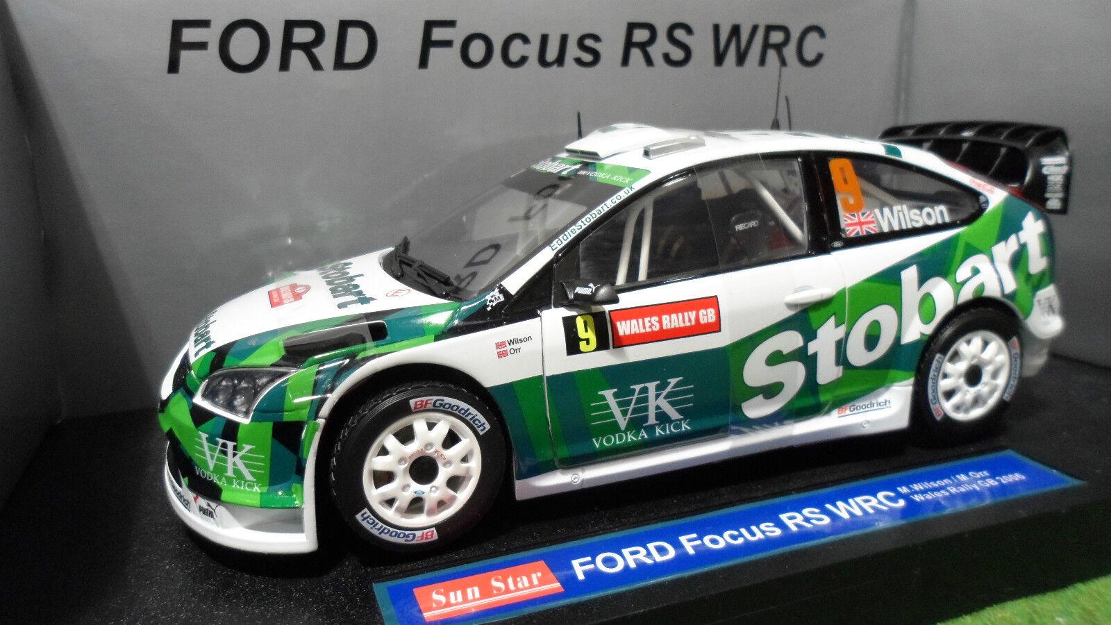 descuento de ventas FORD FOCUS WRC Rally WALES Rallye 2006 WILSON WILSON WILSON 1 18 SUNEstrella 3916 voiture miniatur  ahorrar en el despacho