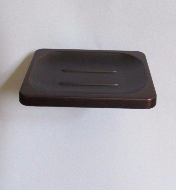 Bathroom Accessory Wall Mount Oil Rubbed Bronze Ceramic Soap Dish Holder Zba453