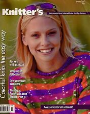 Knitters 62 Spring 2001 Sweaters Shawls Cape Hats Jacket Aran Afghan