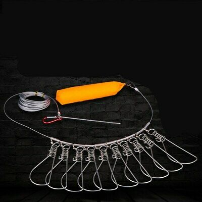 Fishing Stringer Clip Stainless Steel Kayak Fish Stringer Lock//Holder Foam Float
