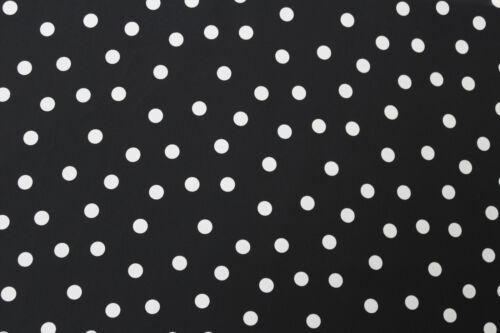 Black Big All Over Polka Dots Print Georgette Dress Fabric Material