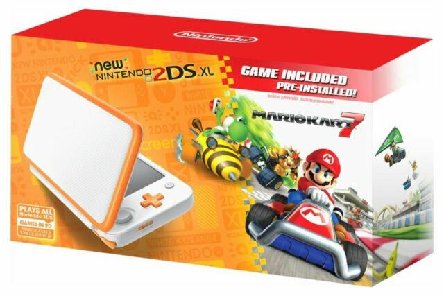 Nintendo 2DS XL Console + Mario Kart 7 Game Bundle - Orange/