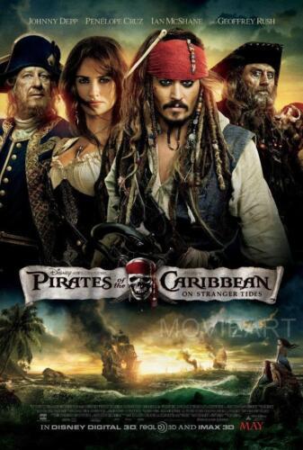 PIRATES OF THE CARIBBEAN STRANGER TIDES MOVIE POSTER FILM A4 A3 ART PRINT CINEMA