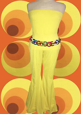144✪ Boho Indian Spirit Schlaghosen Anzug Overall mit Häkeleinsatz Gr S M lila