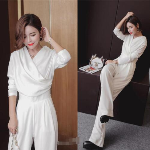 Pants Ladies Long End Jumpsuits Slim Fit Waist High White Hot Sleeves U77Xq6nAp
