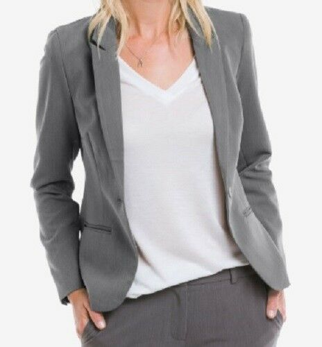 NWT ELLOS WOMEN'S SLATE GREY EVERY DAY WORK BLAZER REG  LH 3092