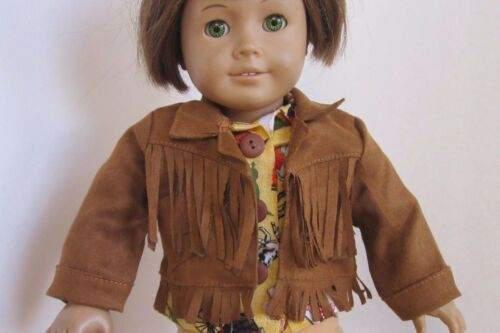 """SUEDE"" FRINGED 2 Pocket JACKET for Western, Cowgirls, Hippies fit American Girl"