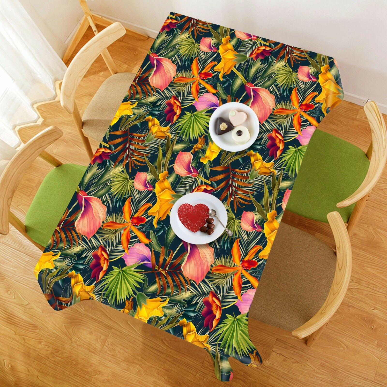 3D Leaf 4523 Tablecloth Table Cover Cloth Birthday Party Event AJ WALLPAPER AU