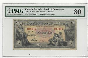 1935-Bank-of-Commerce-Toronto-751810-20-Note-PMG-VF-30-SN-109466