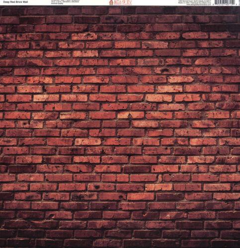 "Ella /& Viv by Reminisce /""Deep Red Brick Wall/"" 12x12 Single-Sided Paper"