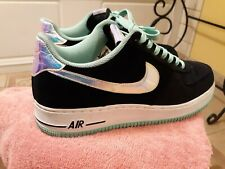 separation shoes 825a1 a8c29 item 2 NIKE AIR FORCE 1 MENS 488298 080 Size 10 SHINY SILVER GREEN GLOW  Iridescent -NIKE AIR FORCE 1 MENS 488298 080 Size 10 SHINY SILVER GREEN GLOW  ...
