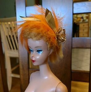 BARBIE HAT BANDS FOR VINTAGE BARBIE CLOTHES AMAZING FEATHERED HAT VERY CHIC!