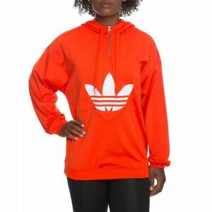 Details about NWT ADIDAS Women's 'COLORADO OG' Bold Orange PULLOVER 14 ZIP HOODIE M