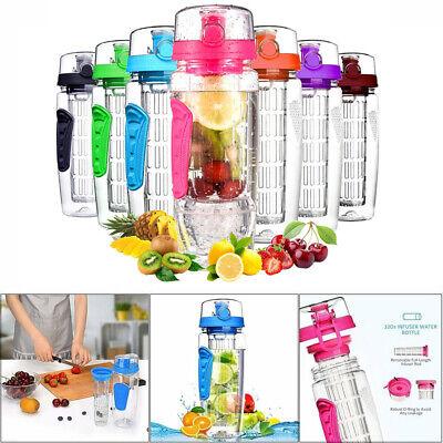 Trinkflasche mit Fruchteinsatz Infuser Wasserflasche Sportflasche Sport 1000ml