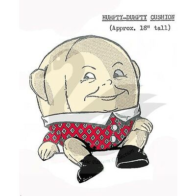 "Vintage Humpty Dumpty Cushion Sewing pattern 18"" TALL"