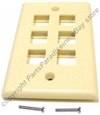 Lot10 Keystone flush Wall face Plate,1//One//Single mount Hole//Jack//Port{WHITE//WH