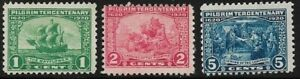 1920-SC-548-550-Mint-F-Pilgrim-Tercentenary-Series-NH-43078