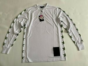 NEW Black Scale White Graphic Long Sleeve Jersey Shirt Size XS