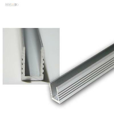 1m Aluminium-Wand-Glasbodenprofil for Led Stripes Glass Edge Lighting Light