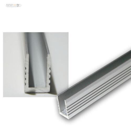 1m Aluminium-Wand-Glasbodenprofil fü LED-Stripes Glaskantenbeleuchtung Glaslicht