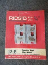 Ridgid 34 Pipe Threader Replacement Die Set 12 R 00 R 111 R O R 11 R 30a 31a