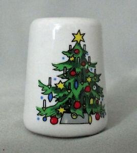 Image Is Loading Miniature Ceramic Decorated Christmas Tree Mini Candle Holder