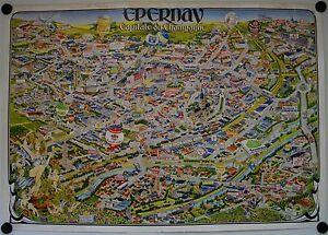Diligent Affiche Epernay Capital Champagne - Illustr. R. Gremet - Tourisme