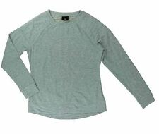 32 Degrees Heat Women's Quilted Crew Neck Fleece Pull On Top Sweater Gray XXL