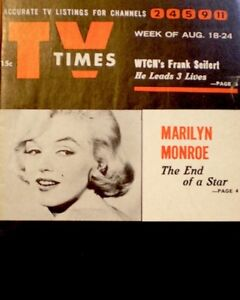 TV-Guide-1962-Marilyn-Monroe-Regional-TV-Times-NM-MT-Tribute-Joe-DiMaggio-COA