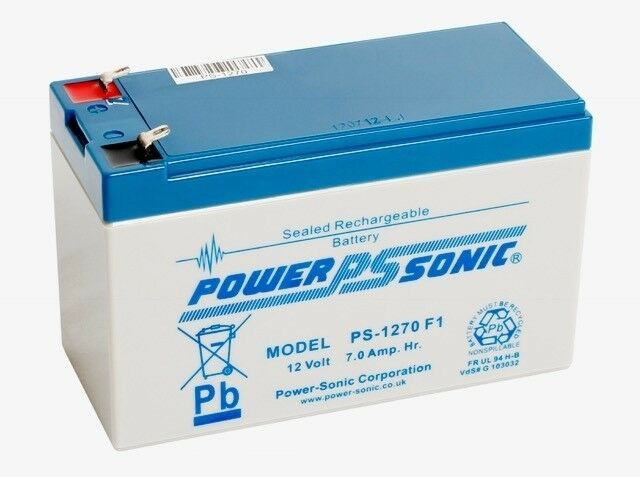 4 x Power Sonic 12V 7AH Rechargeable Battery Electric Bikes, Scooter & Toy Cars