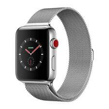 Apple Watch Series 3 GPS Cellular Stainless Steel 42mm Case Milanese Loop Silver