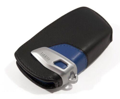 Genuine BMW Leather Key Fob Holder Case Cover M Sport Blue Edition 82292219915