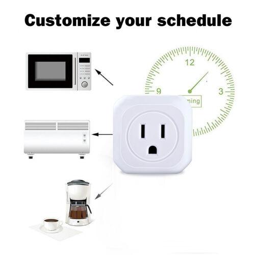 Smart Home WiFi US Plug Outlet Remote Control Timer Switch Socket Alexa Google