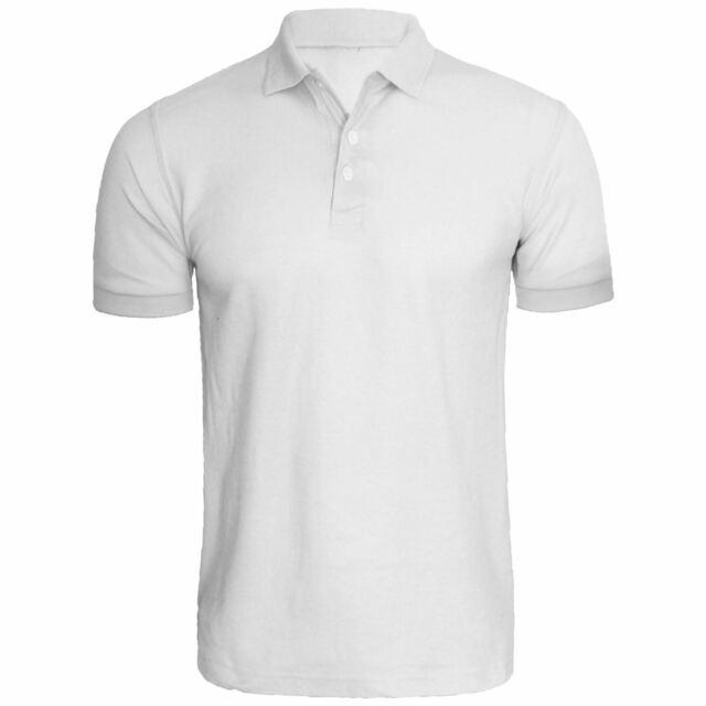 white polo shirt plain