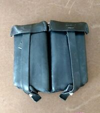 VINTAGE C. RIESE BERLIN  1957 GERMAN  LEATHER AMMO POUCH, K98 RIFLE Excellent