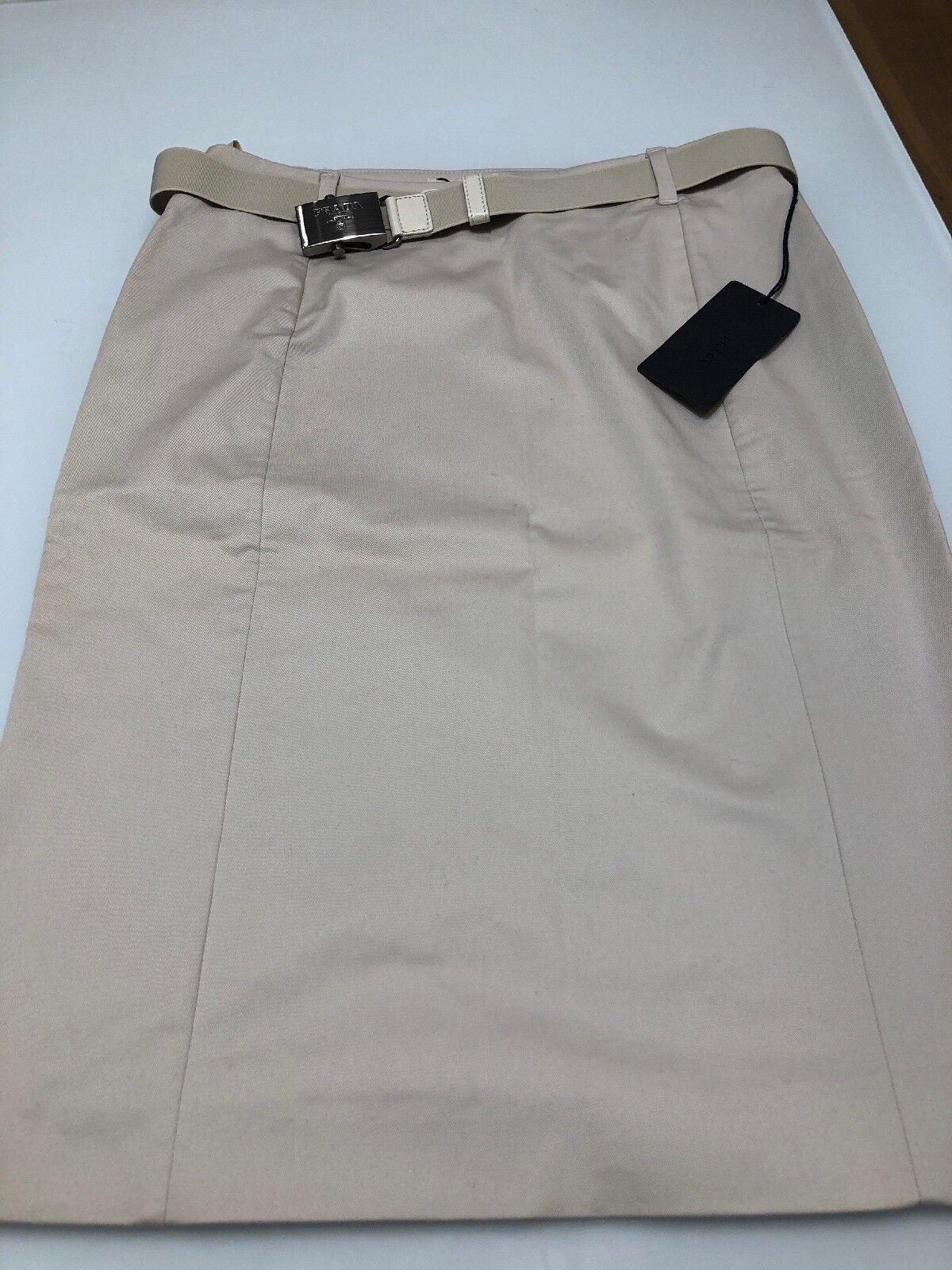 Prada Pencil Skirt With Belt SZ 40