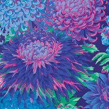 Fat Quarter Kaffe Fassett Japanese Chrysanthemum BLUE - Cotton Quilting Fabrics