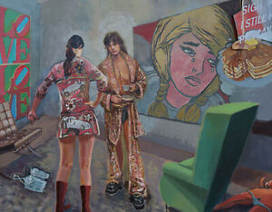 """BEATLES ART painting!  entitled """"LOVE"""" ROCK and ROLL icon ART by KATA - BILLUPS"""
