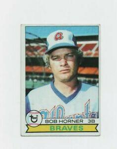 1979 Topps Bob Horner #586 (Rookie) Baseball Card - Atlanta Braves HOF